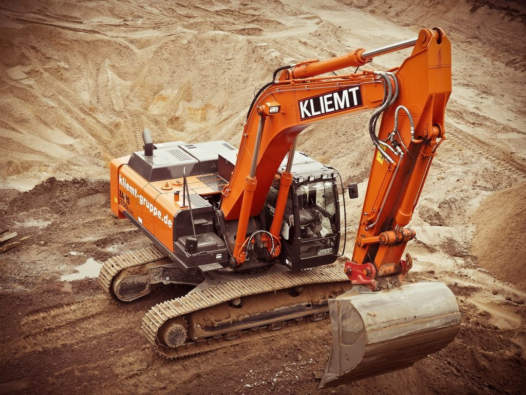 excavators, construction, site